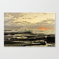 Sun Rise the golden light  Canvas Print