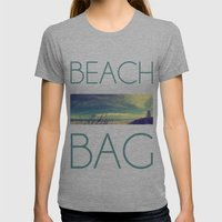 Panoramic Beach Shot Womens Fitted Tee Athletic Grey SMALL