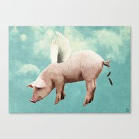 When Pigs Fly... Canvas Print