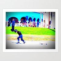 young skater Art Print