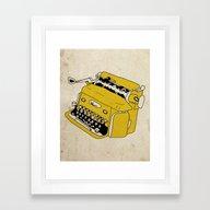 Grunge Typewriter Framed Art Print