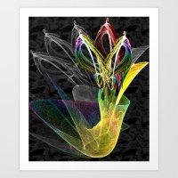Fractal Flowers In A Vas… Art Print