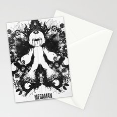 Megaman Geek Ink Blot Test Stationery Cards