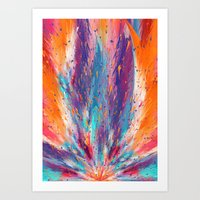 Colorful Fire Art Print