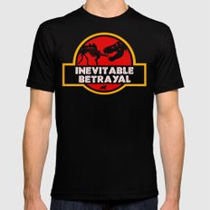 Jurassic Betrayal SMALL Mens Fitted Tee Black