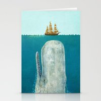 blue Stationery Cards featuring The Whale  by Terry Fan