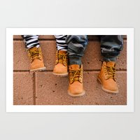 Boots, Two Boys Art Print
