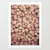 Flower Market 1 - Pink R… Art Print