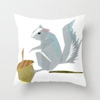 Cornelius Squirrel Throw Pillow
