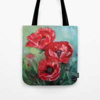 The Fairies Poppies Tote Bag