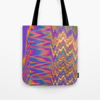 Chevron Glitch Tote Bag