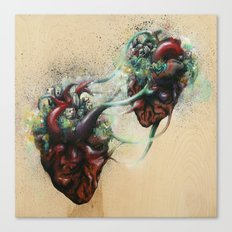 Arrested Vascular Fusion of Two Entities in Need  Canvas Print