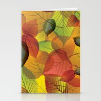Pile Of Leaves Stationery Cards