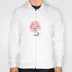 Watercolor flower phlox Hoody