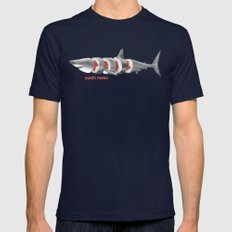 Sushi Mako Mens Fitted Tee Navy SMALL