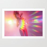 Valentine Rainbow Lover Art Print