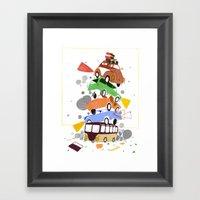 VW Tower Print Framed Art Print