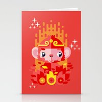Fire Monkey Year Stationery Cards