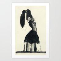 Woman Unplugged Art Print