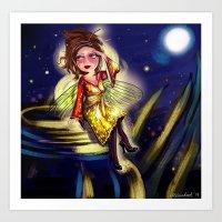 Bug Girls: Firefly Looki… Art Print