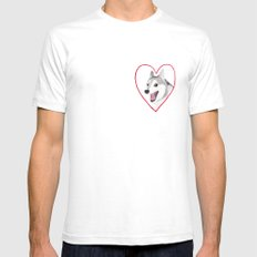 Valentine Mens Fitted Tee White SMALL