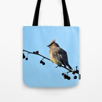 Waxwing on a Winter's Day Tote Bag