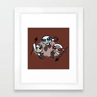 Power War Boys Framed Art Print