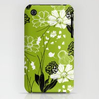 iPhone 3Gs & iPhone 3G Cases featuring Daisy Flower Garden by Scarlet Crane