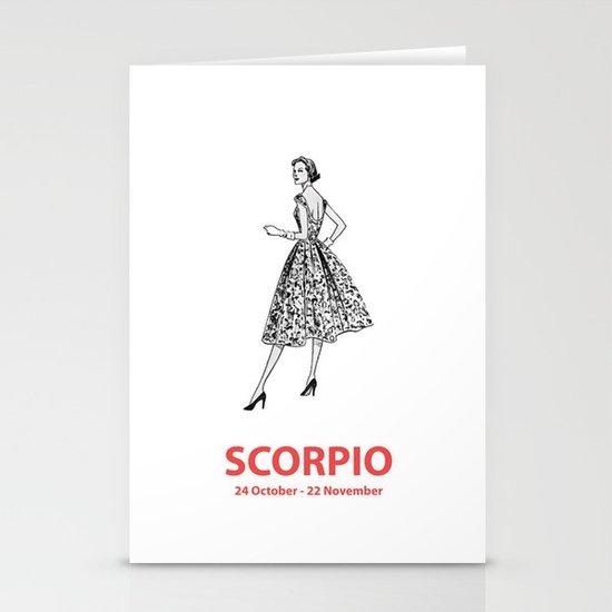 Scorpio Stationery Card
