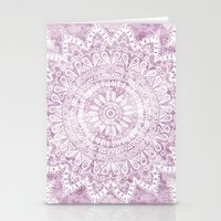 BOHEMIAN FLOWER MANDALA IN PINK Stationery Cards