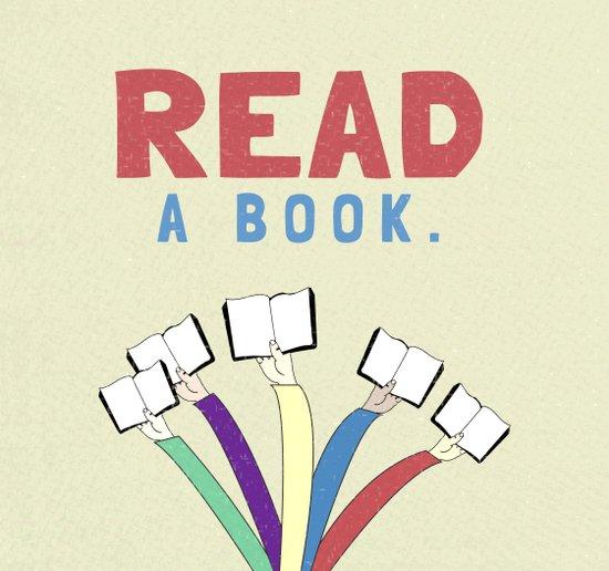Read a book. Art Print
