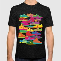 Sneakers Mens Fitted Tee Tri-Black SMALL