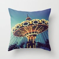 Blue Hour At The Carniva… Throw Pillow