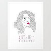 What's Up ? Art Print