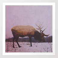 Art Print featuring Deer Waiting For Summer by Andreas Lie