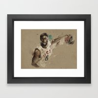 [Lebron James] Framed Art Print