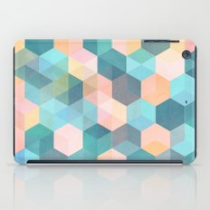 Child's Play 2 - hexagon pattern in soft blue, pink, peach & aqua iPad Case