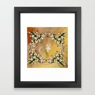 Saxophone With Flowers Framed Art Print