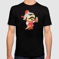 Genghis Khan Mens Fitted Tee Black SMALL