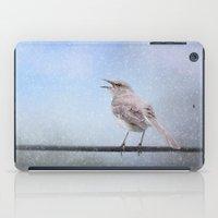 Mockingbird In The Snow iPad Case