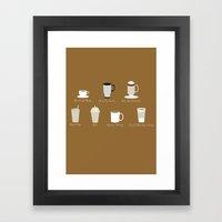 Weekly Dose of Coffee Framed Art Print