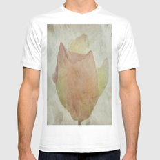 Textured Rose Mens Fitted Tee SMALL White