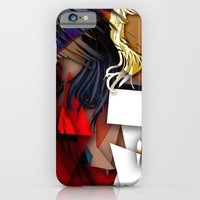 iPhone & iPod Case featuring Cubist BFF's by spasticlizard