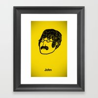 John. Framed Art Print