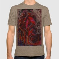 Neon Encyclopedia Mens Fitted Tee Tri-Coffee SMALL