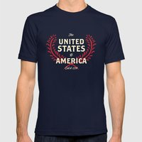 The United States of America Mens Fitted Tee Navy SMALL