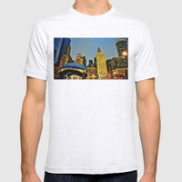 Chicago Bean Mens Fitted Tee Ash Grey SMALL