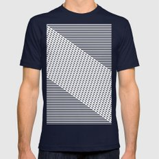 Ovrlap Blue Mens Fitted Tee Navy SMALL