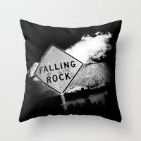 Falling (in love) Rocks Throw Pillow