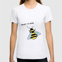 Honey I'm Home Womens Fitted Tee Ash Grey SMALL